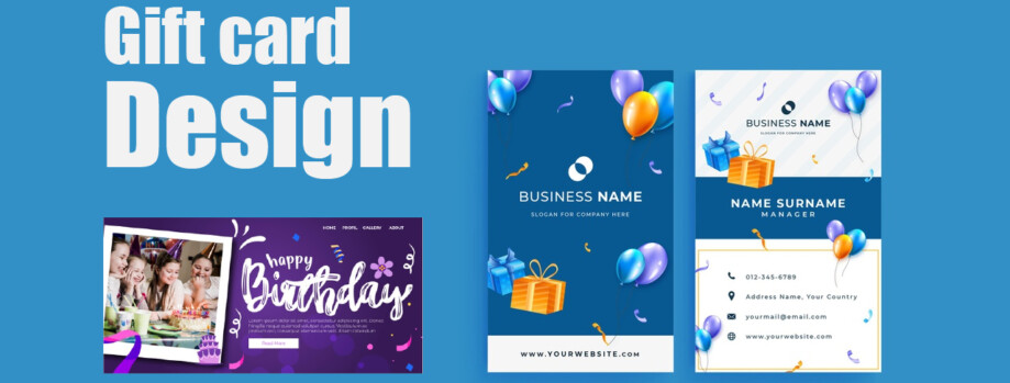 Creative, Eye-Catching Gift Card Design with Quick Service